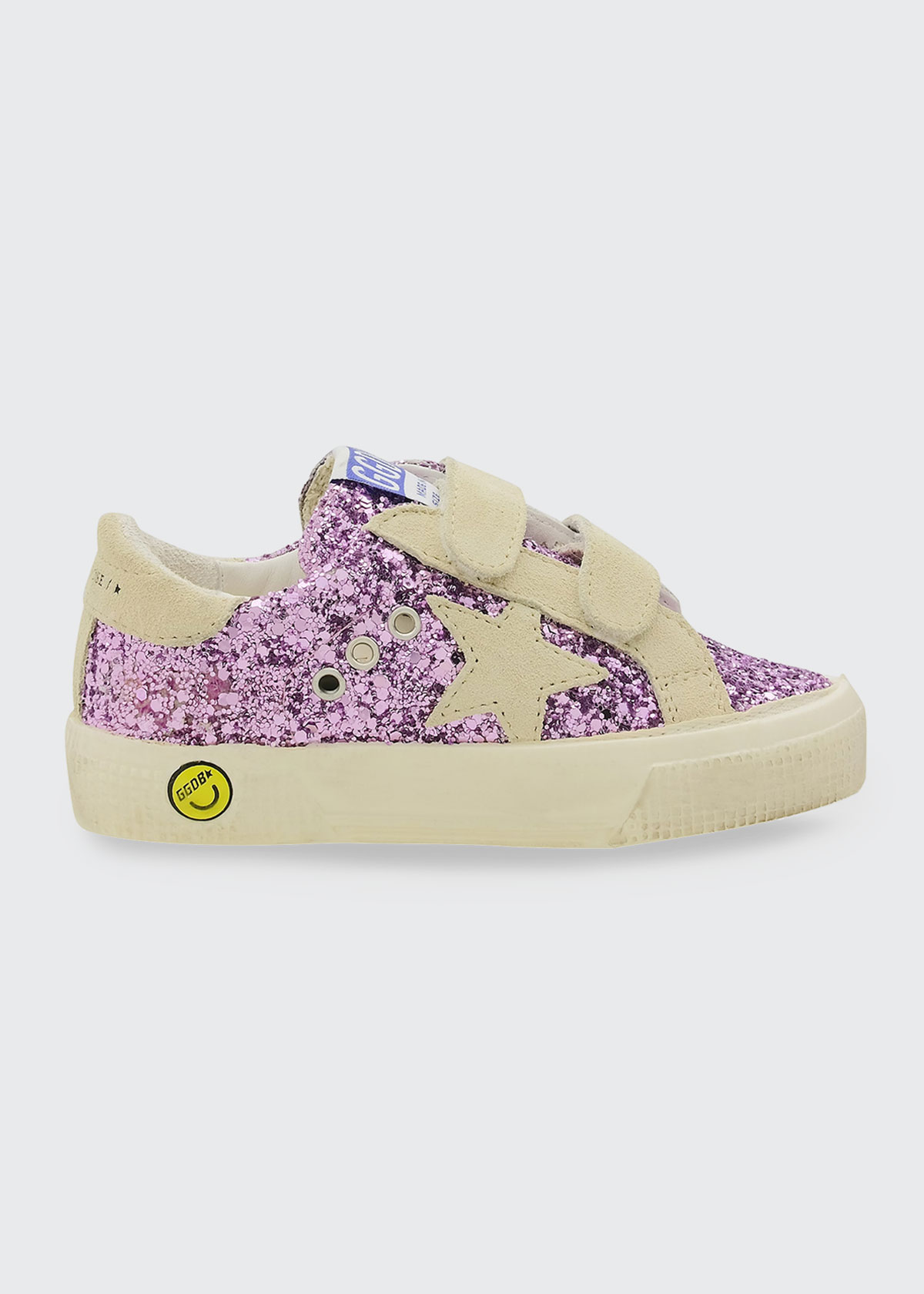 Golden Goose GIRL'S MAY GLITTER GRIP-STRAP SNEAKERS, TODDLERS