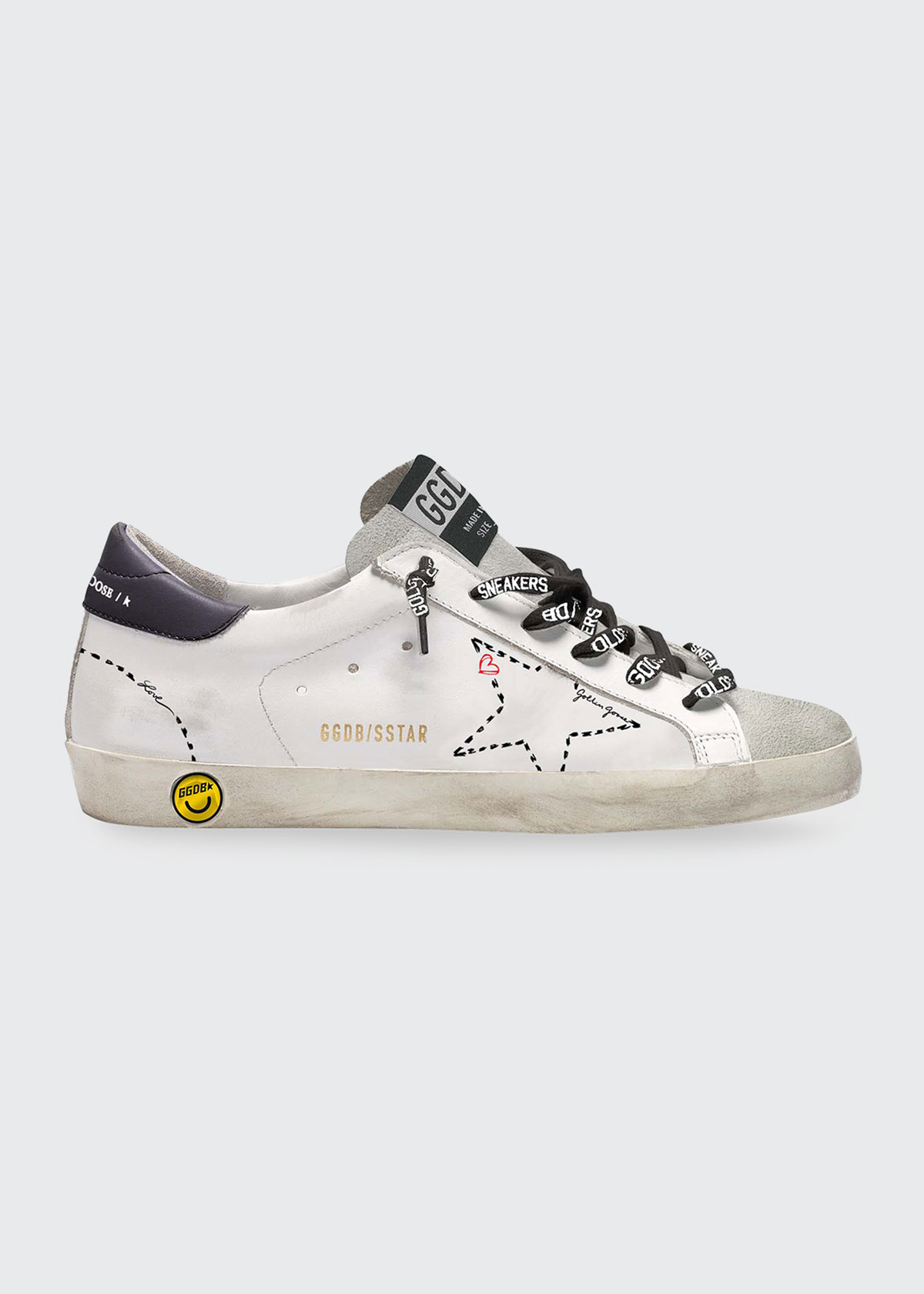 Golden Goose GIRL'S SUPERSTAR DOTTED OUTLINE PRINT SNEAKERS, BABY/TODDLERS