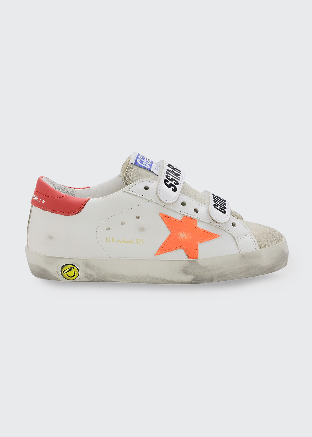 Golden Goose BOY'S LEATHER GRIP-STRAP SNEAKERS, KIDS