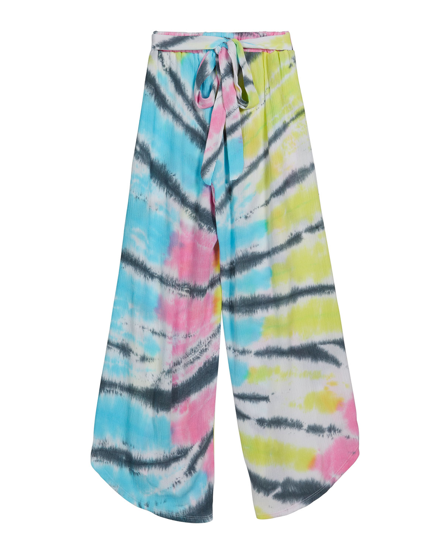 Girl's Tie-Dye Wide-Leg Gauze Pants, Size S-XL