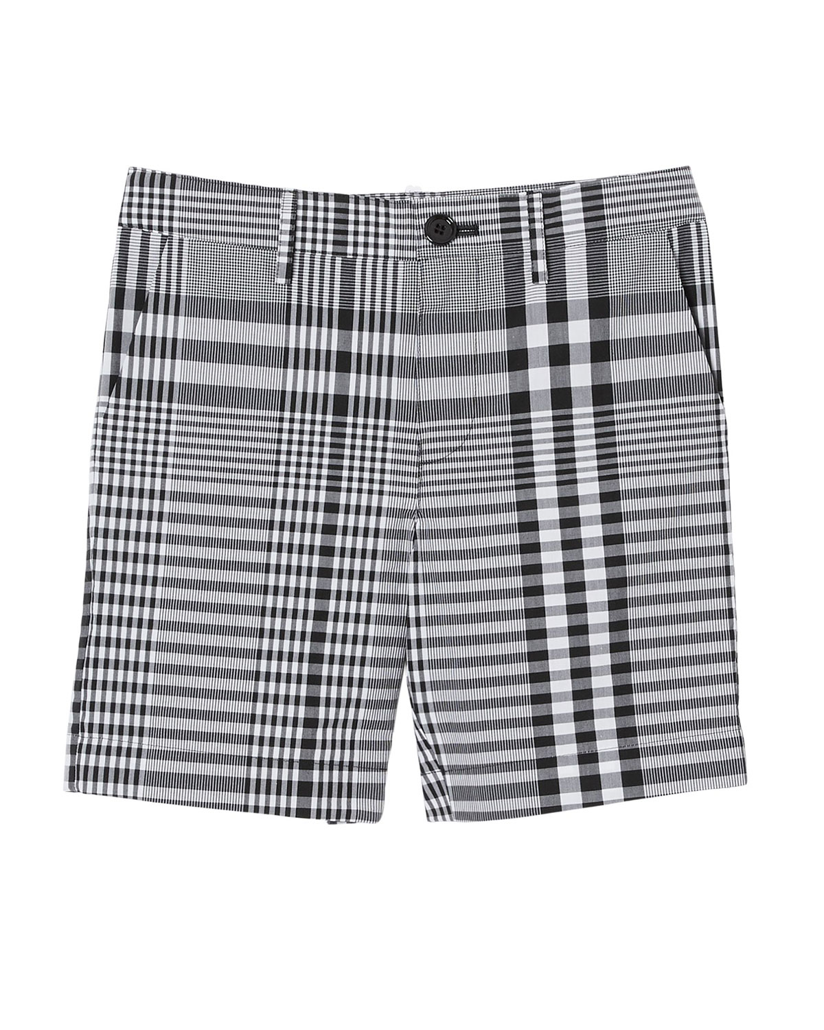 Burberry Cottons BOY'S MARTWELL CHECK-PRINT SHORTS