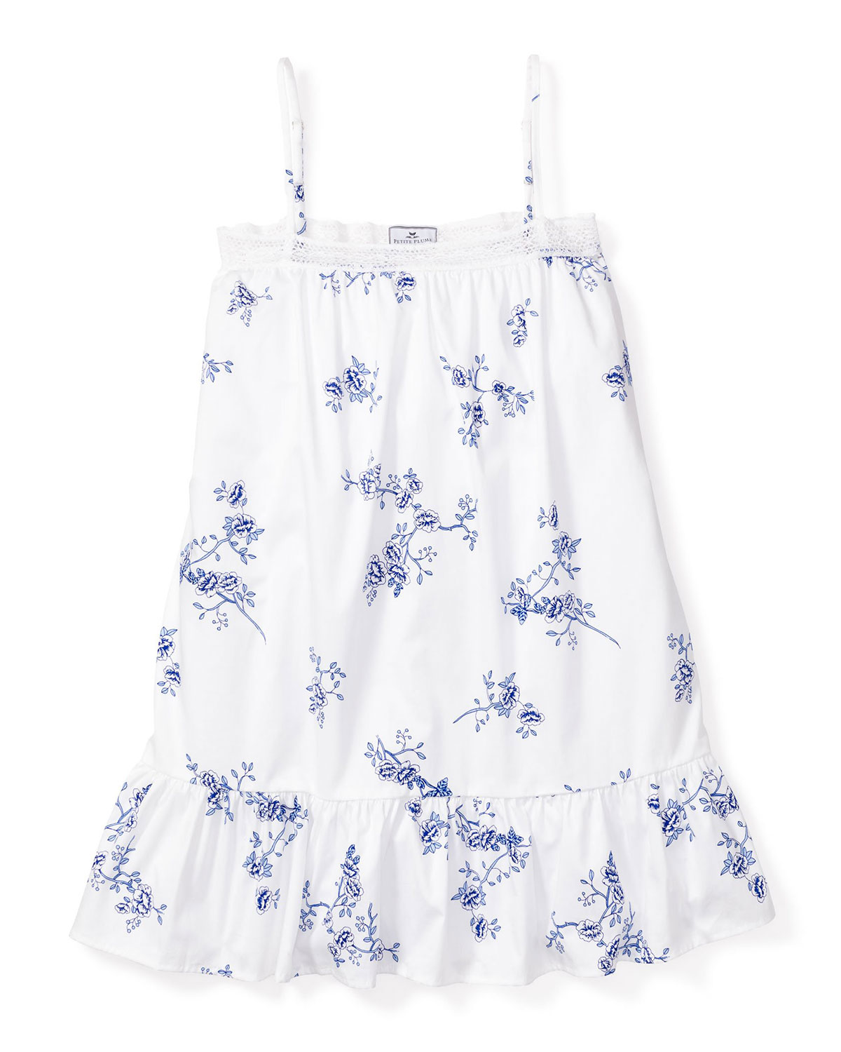 Petite Plume Nightgowns KID'S LILY FLORAL-PRINT LACE NIGHT GOWN