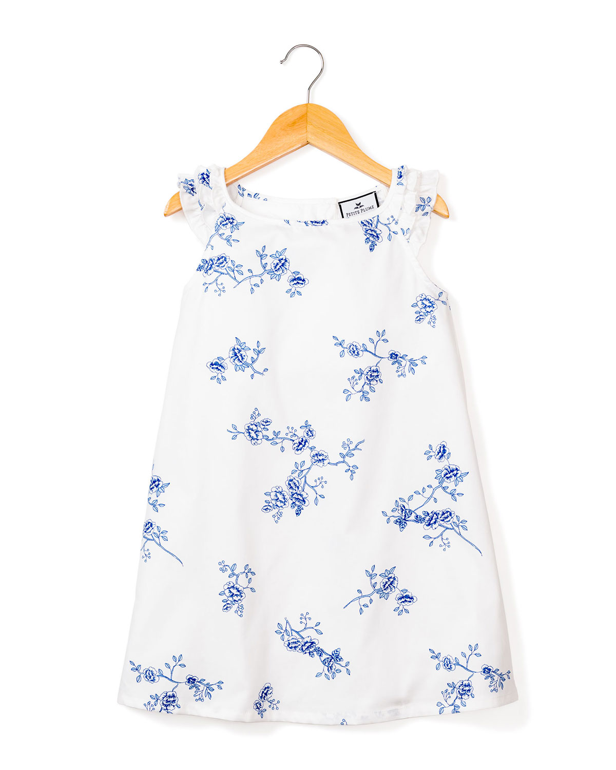 Petite Plume GIRL'S AMELIE FLORAL-PRINT RUFFLE NIGHTGOWN