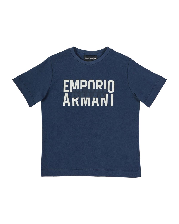 Emporio Armani BOY'S BOLD LOGO SHORT-SLEEVE SHIRT