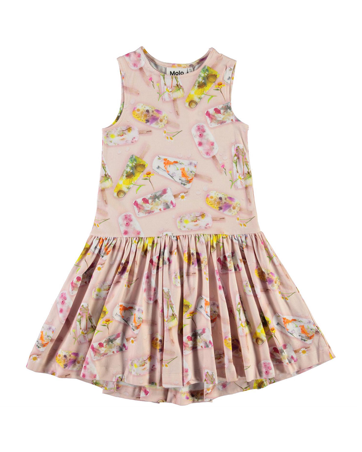 Molo GIRL'S CANDECE FLORAL POPSICLE SLEEVELESS DRESS