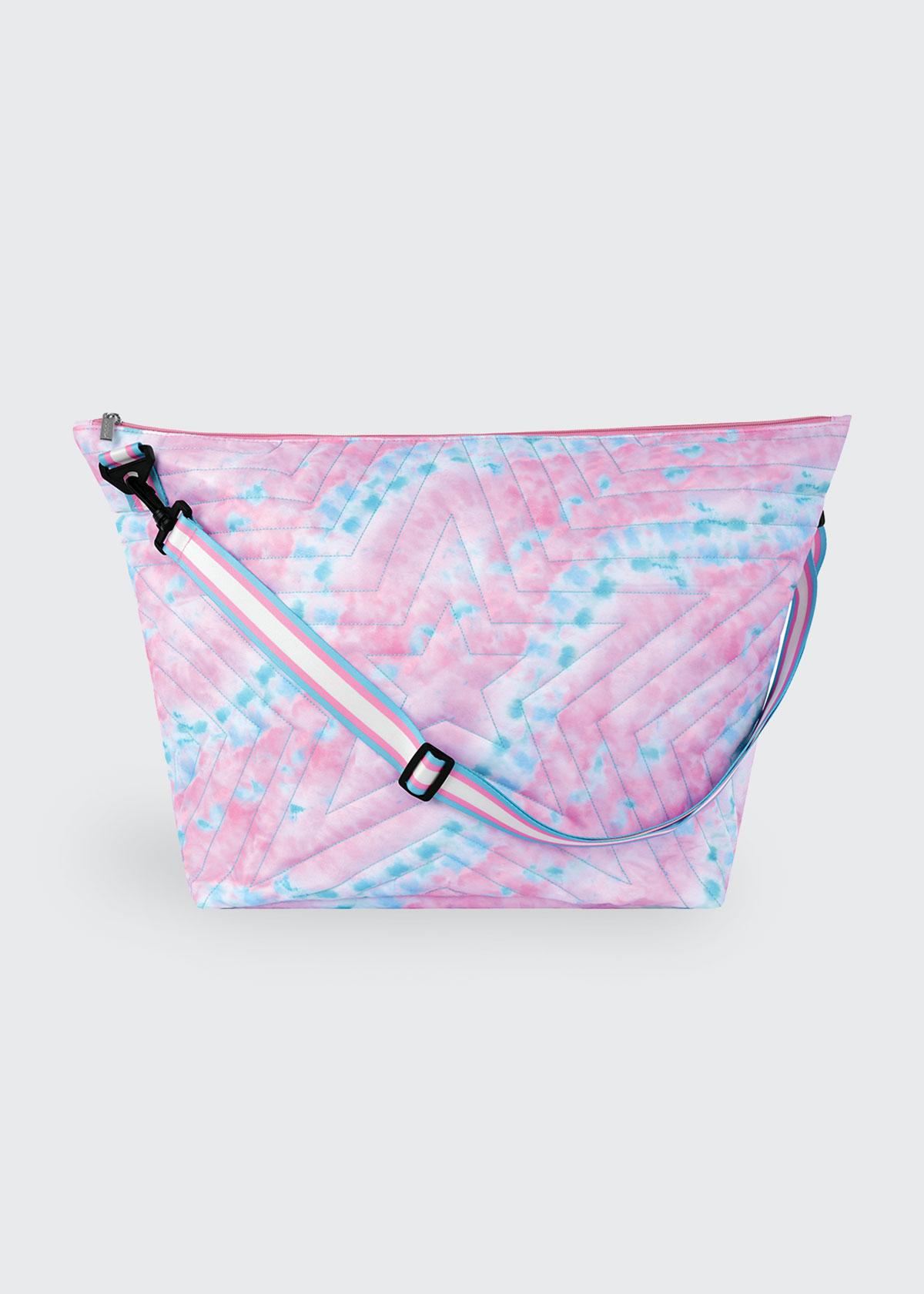Silver Star Quilted Tie-Dye Weekender Bag