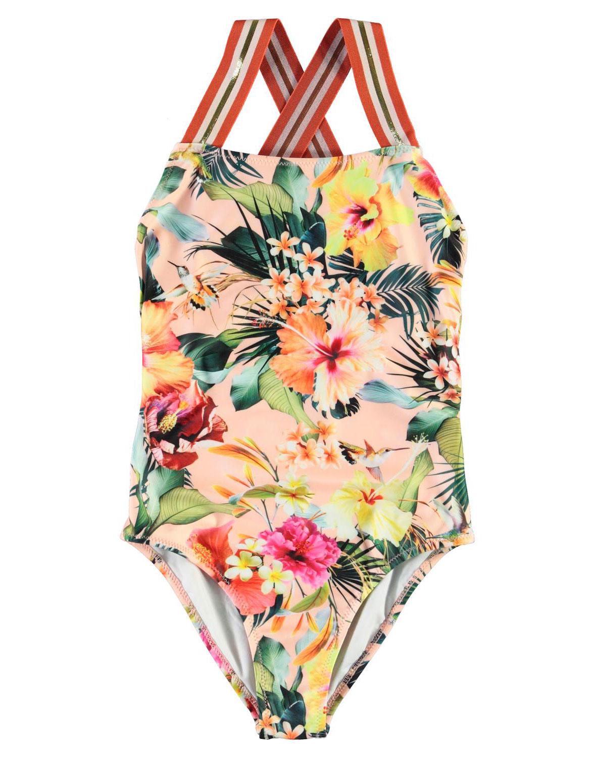 Molo One-pieces GIRL'S NEVE FLORAL-PRINT ONE-PIECE SWIMSUIT