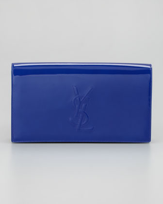 Belle de Jour Patent Clutch Bag, Blue