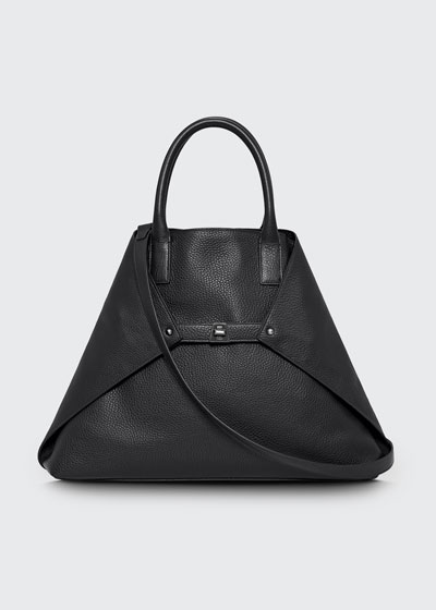 Ai Cervo Medium Shopper Tote Bag, Black