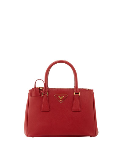Saffiano Baby Executive Tote Bag with Strap, Red