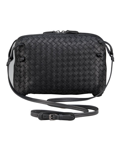 Veneta Crossbody Messenger Bag, Black