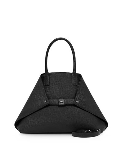 Ai Small Top-Handle Tote Bag, Black
