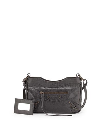 Classic Hip Crossbody Bag, Gray