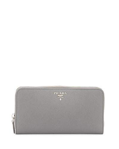 Saffiano Zip-Around Continental Wallet