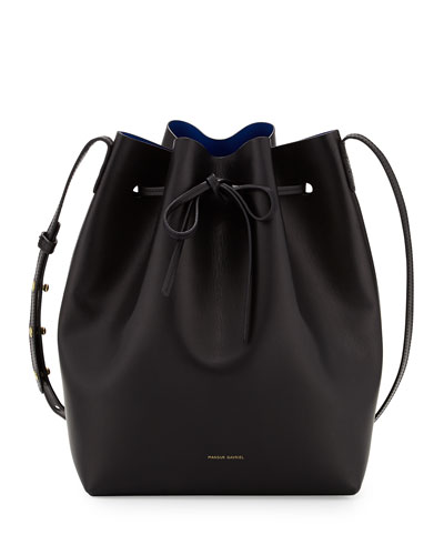 Vegetable-Tanned Leather Bucket Bag