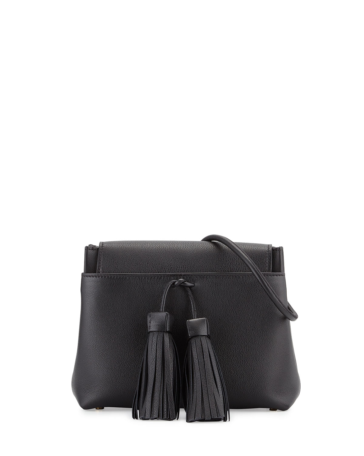 Leonica Tassel Crossbody Bag, Black