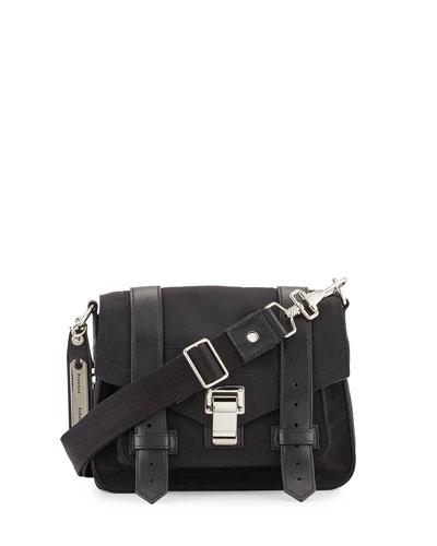 PS1 Small Nylon Crossbody Bag, Black