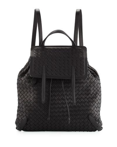 Medium Intrecciato Leather Backpack