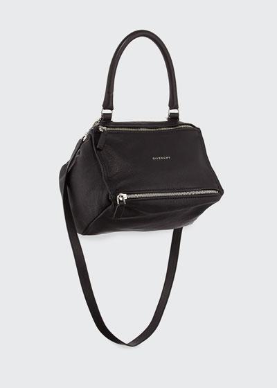Pandora Small Sugar Satchel Bag, Black