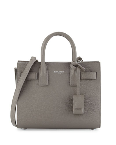 Sac de Jour Nano Leather Satchel Bag, Fog
