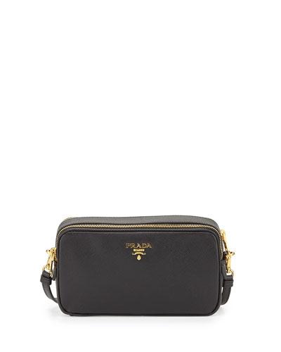 Saffiano Mini Crossbody Bag