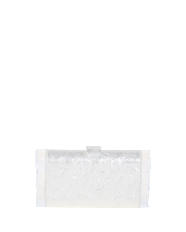 Lara Acrylic Backlit Clutch Bag, White