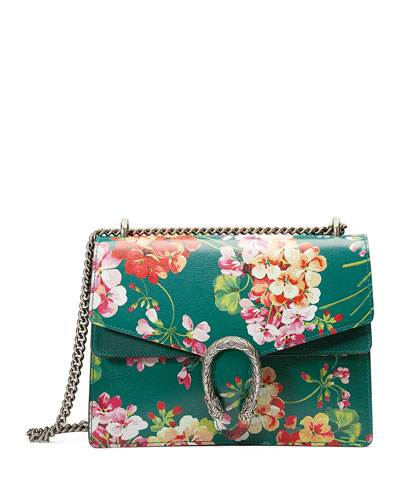Dionysus Blooms Shoulder Bag, Green Pattern