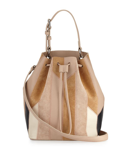 Prince Patchwork Leather Bucket Bag