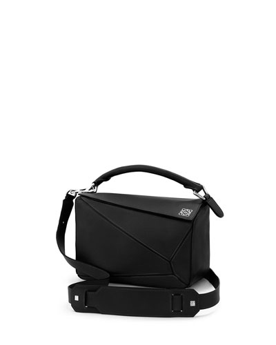 Calfskin Puzzle Satchel Mini Bag