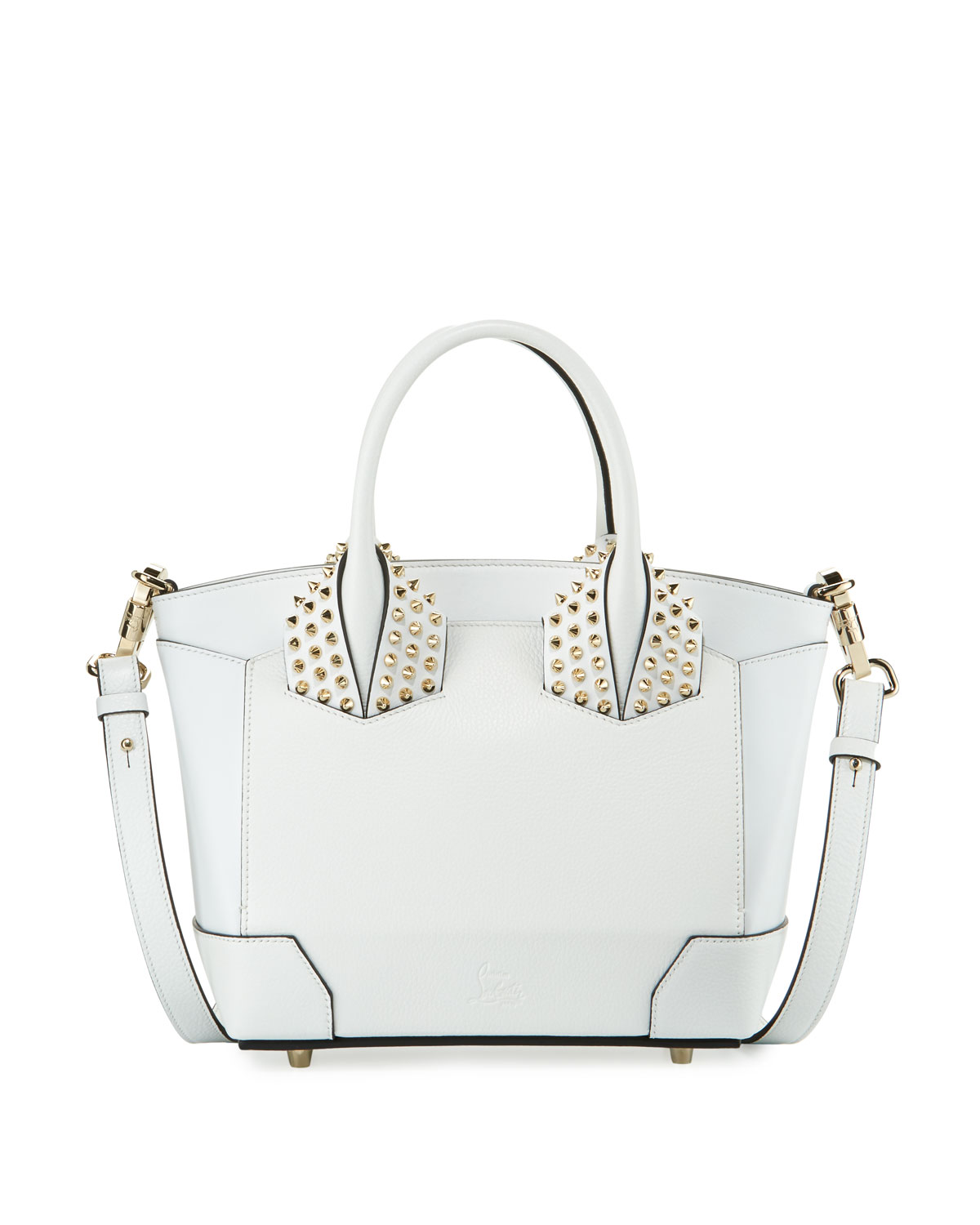 Eloise Small Leather Tote Bag, White