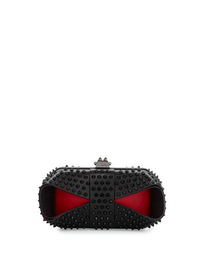 Grandotto Spike Clutch Bag, Black/Red