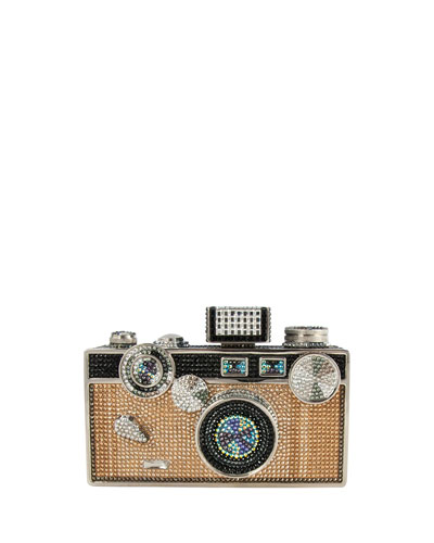 Click Camera Crystal Minaudiere, Jet Multi