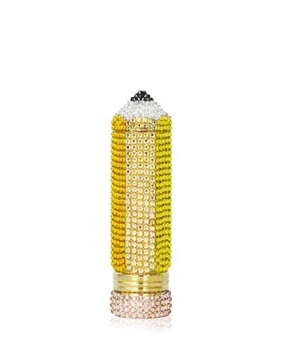 Number 2 Crystal Pencil Minaudiere, Sunflower/Multi