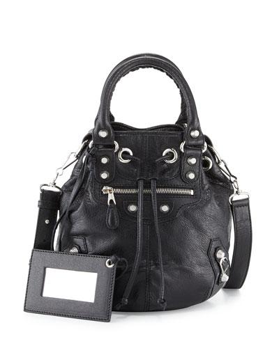 Giant 12 Mini Pompon Bag, Black