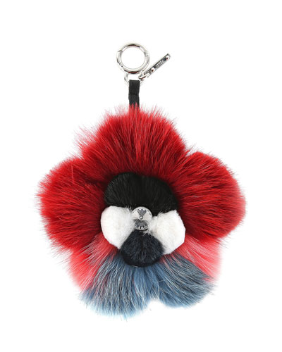 Fur Flower Charm for Handbag
