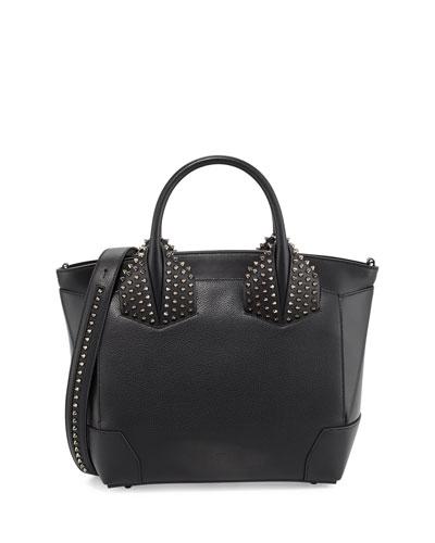 Eloise Large Leather Tote Bag, Black