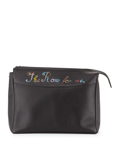 The Row for Me Bindle Clutch Bag, Black
