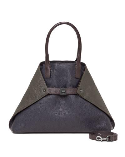 Ai Small Messenger Bag, Blue Pattern