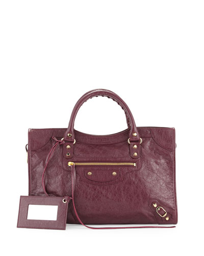 Small Classic Velo Crossbody Bag, Violet Prune