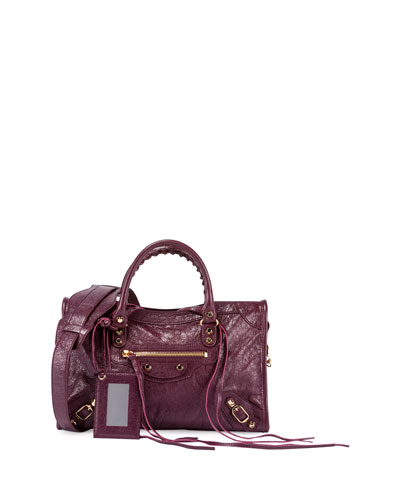 Classic City Small Arena Satchel Bag, Violet Prune