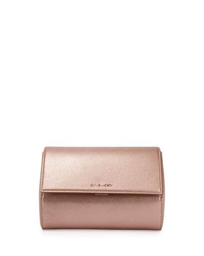 Pandora Metallic Box Clutch Bag, Light Pink