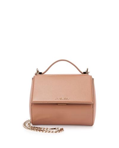 Pandora Box Mini Chain Shoulder Bag, Light Pink