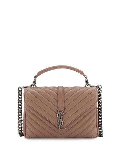 Monogram Medium College Shoulder Bag, Pink