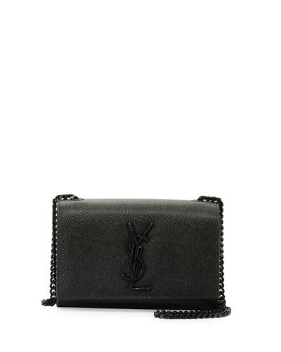 Monogram Small Kate Chain Shoulder Bag, Black