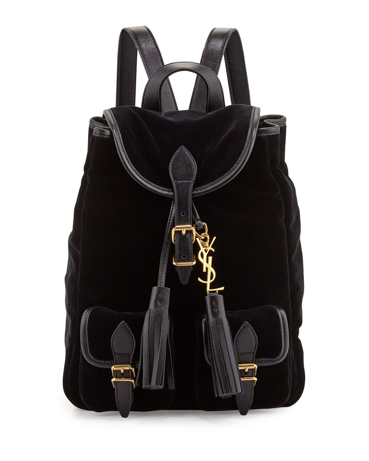 Festival Small Velvet Backpack, Black