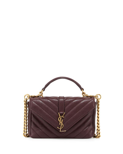 Monogram College Chain Wallet, Bordeaux