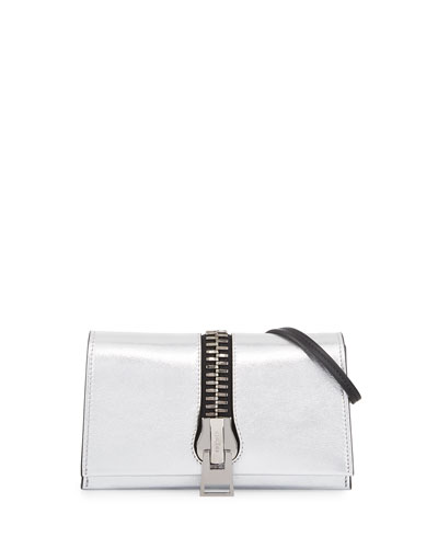 Sedgwick Metallic Zip Clutch Bag, Silver