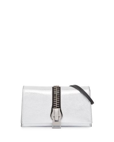 Sedgwick Metallic Zip Clutch Bag, Silver