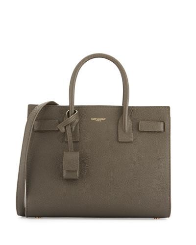 Sac de Jour Baby Grain Leather Satchel Bag, Bronze