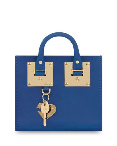 Box Albion Leather Tote Bag, Klein Blue